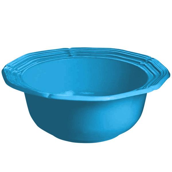 Tablecraft CW6210SBL 5 Qt. Sky Blue Cast Aluminum Queen Anne Salad Bowl