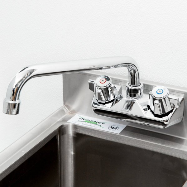 Regency Wall Mount Bar Sink Faucet With 4 Centers And 10 Swing Spout