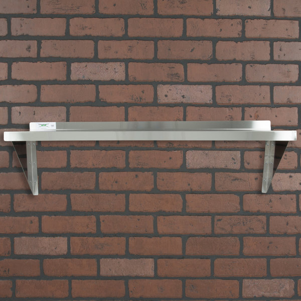 "Regency 16 Gauge Stainless Steel 18"" x 48"" Heavy Duty Wall Shelf"