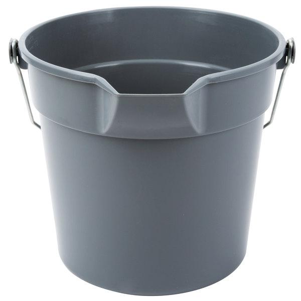 10 Qt. Gray Plastic Utility Bucket