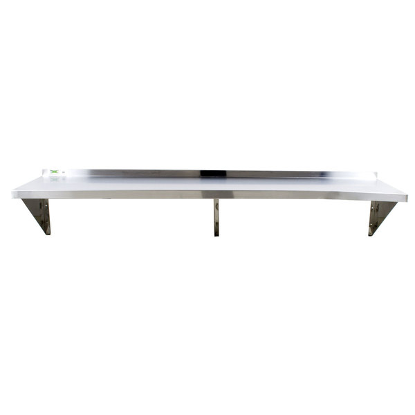 The Regency 16 Gauge Stainless Steel 18u201d X 96u201d Heavy Duty Wall Shelf  Provides You With Storage Space To Safely Store Your Dishes, Ingredients,  Spices, ...