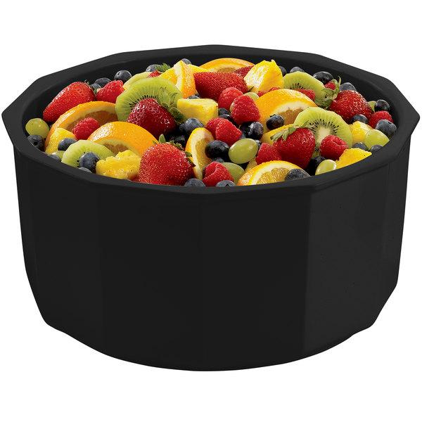 Tablecraft CW1810BK 8.5 Qt. Black Cast Aluminum Prism Bowl