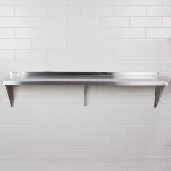 "Regency 16 Gauge Stainless Steel 18"" x 60"" Heavy Duty Wall Shelf"