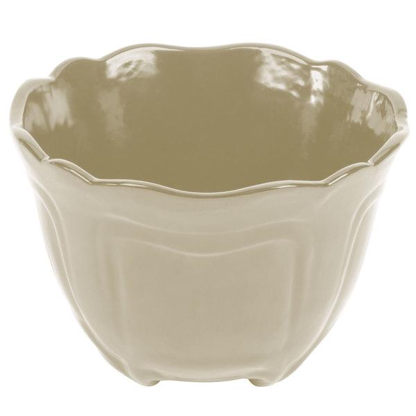 Tablecraft CW1454IV 1.3 Qt. Ivory Cast Aluminum Round Condiment Bowl