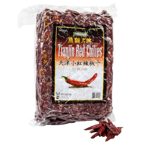 Panda 5 lb. Tianjin Red Chilies