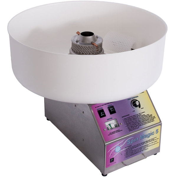 """Paragon 7150300 Spin Magic 5 Cotton Candy Machine with 26"""" Plastic Bowl"""