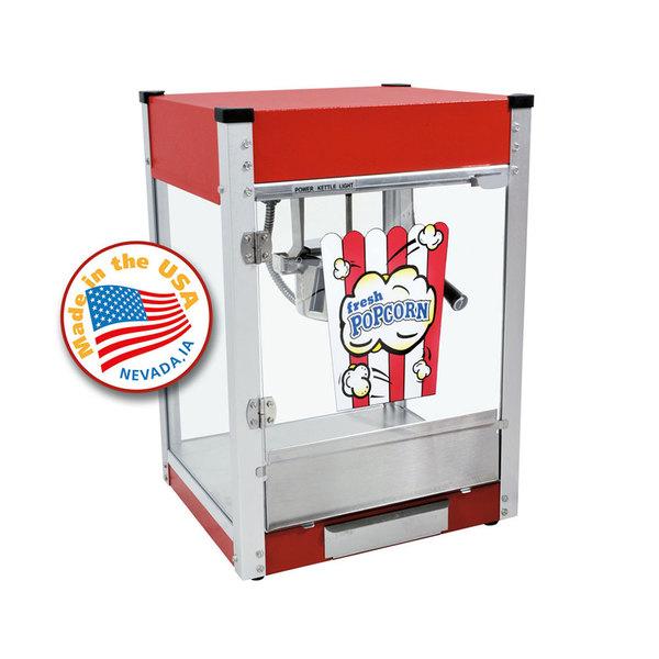 Paragon 1104800 Cineplex Red 4 oz. Popcorn Machine