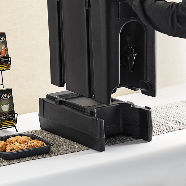 "Cambro R500LCD110 4 9/16"" Black Riser for 2.5, 4.75, and 5.25 Gallon Cambro Insulated Beverage Dispensers Main Image 4"