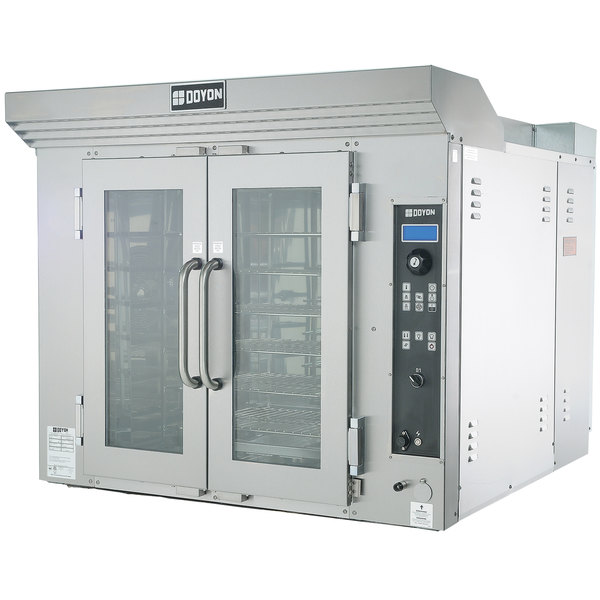 Doyon CA6G Circle Air Liquid Propane Single Deck Bakery Convection Oven with Rotating Racks - 120V, 78,500 BTU