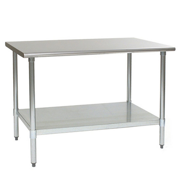 "Eagle Group T3648EB 36"" x 48"" Stainless Steel Work Table with Galvanized Undershelf"