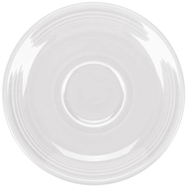 "Homer Laughlin 470100 Fiesta White 5 7/8"" Saucer - 12/Case"