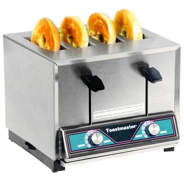Toastmaster BTW24 4 Slice Commercial Pop-up Bagel Toaster - 208/240V, 1600/1800W Main Image 1