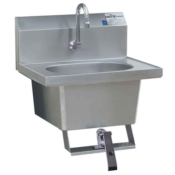 ... Wall Mount Hand Sink With Gooseneck,. Main Picture