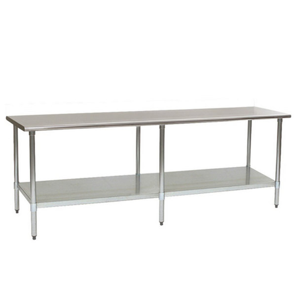 "Eagle Group T2496EB 24"" x 96"" Stainless Steel Work Table with Galvanized Undershelf Main Image 1"