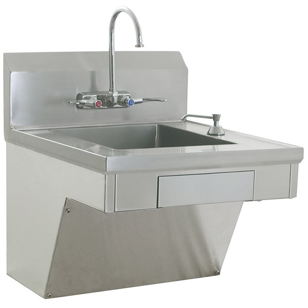 Eagle Group HSAP 14 ADA FW ADA Compliant Hand Sink With Gooseneck Faucet,  Wrist Action Handles, ...