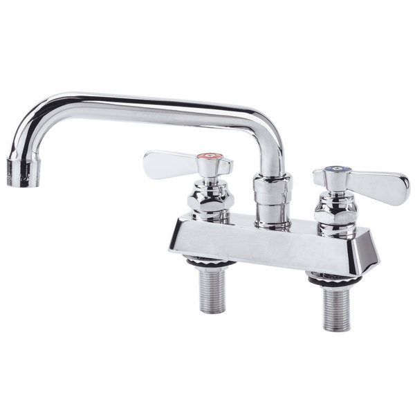 """Deck Mount Faucet with 4"""" Centers and 8"""" Swing Nozzle"""