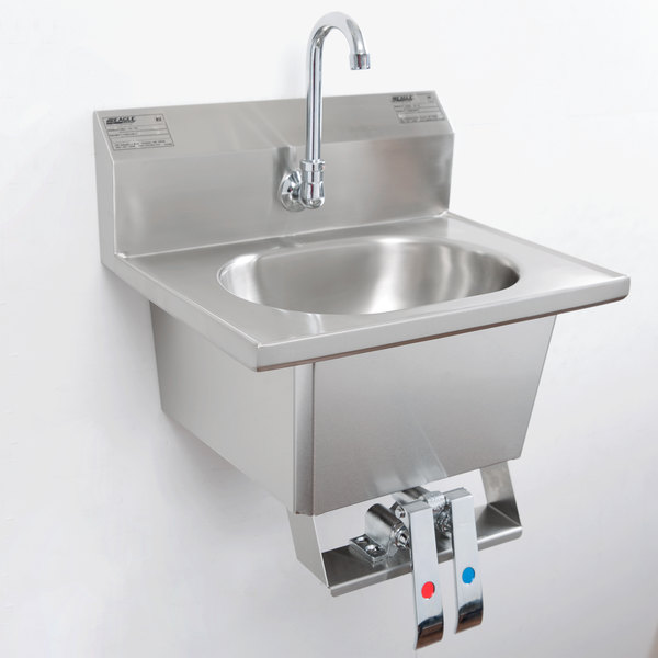Knee Operated Sink Commercial Stainless Steel Hand Wash