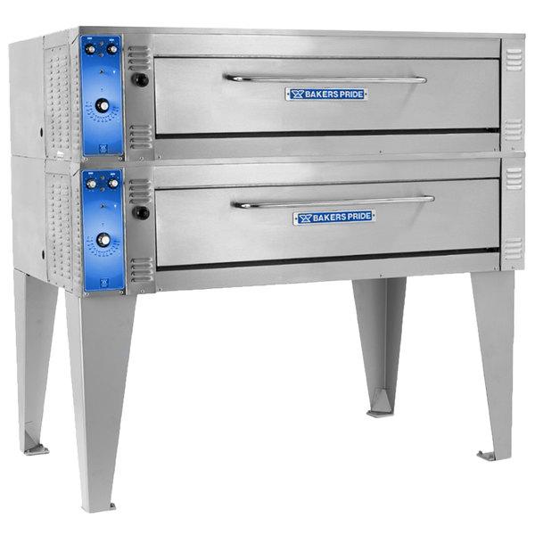 "Bakers Pride ER-2-12-5736 74"" Double Deck Electric Roast / Bake Oven - 220-240V, 3 Phase"