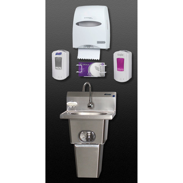 Eagle Group HFL-5000-S Touch Free Hand Washing System with Skirt Main Image 1