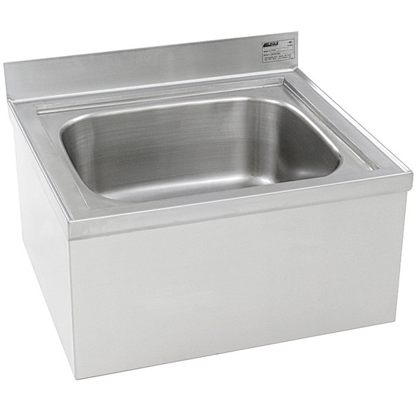 """Eagle Group F1916 20"""" x 16"""" x 8"""" Floor Mounted Mop Sink"""