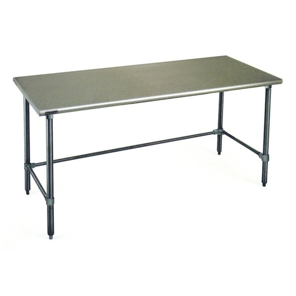 """Eagle Group T2472GTB 24"""" x 72"""" Open Base Stainless Steel Commercial Work Table"""