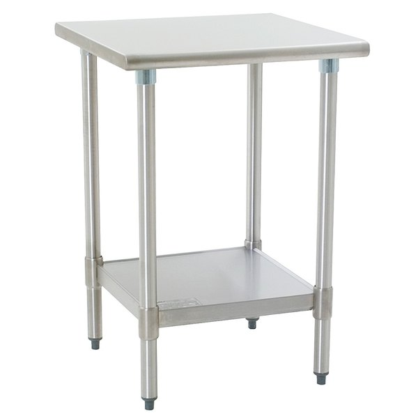 "Eagle Group T2424E 24"" x 24"" Stainless Steel Work Table with Galvanized Undershelf"