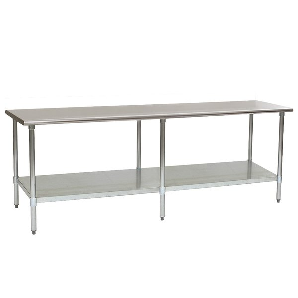 """Eagle Group T2496E 24"""" x 96"""" Stainless Steel Work Table with Galvanized Undershelf Main Image 1"""