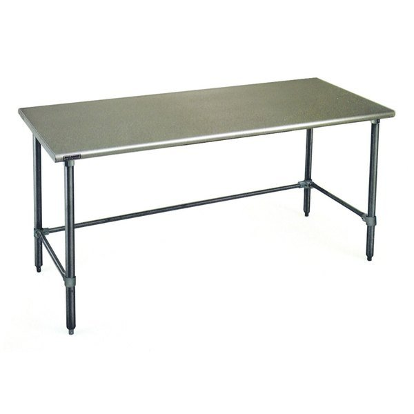 """Eagle Group T3684GTB 36"""" x 84"""" Open Base Stainless Steel Commercial Work Table"""