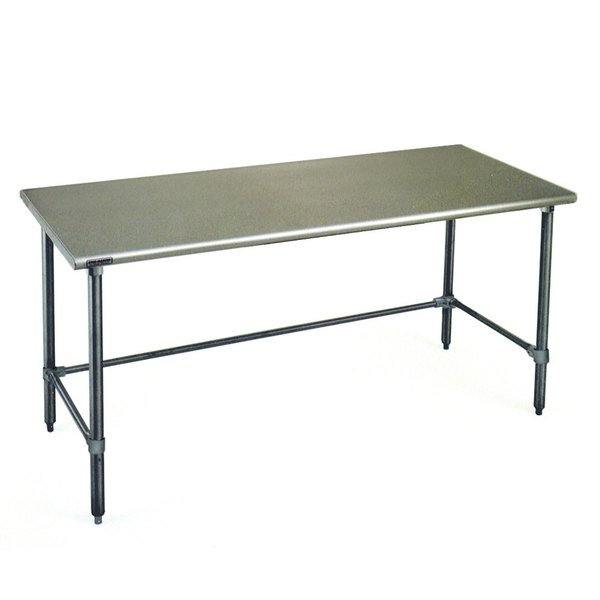 """Eagle Group T3084GTB 30"""" x 84"""" Open Base Stainless Steel Commercial Work Table"""