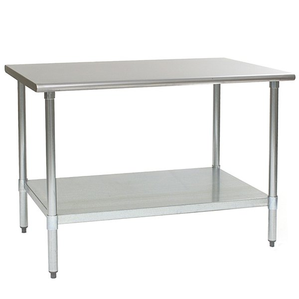 """Eagle Group T3648E 36"""" x 48"""" Stainless Steel Work Table with Galvanized Undershelf"""
