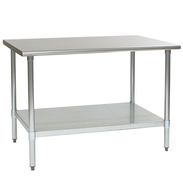 "Eagle Group T3060E 30"" x 60"" Stainless Steel Work Table with Galvanized Undershelf"