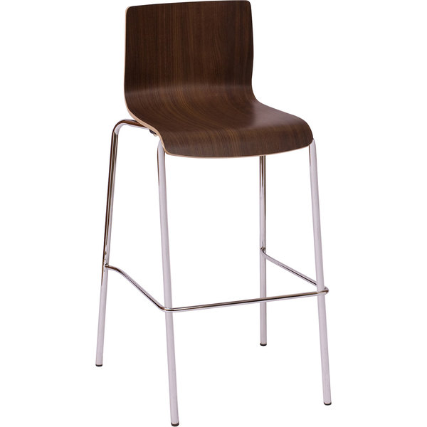 BFM Seating JA601BSNT Rita Walnut Laminate Bar Height Chair