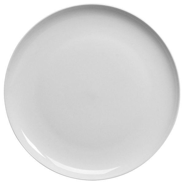 "Homer Laughlin 20126800 Ameriwhite Alexa 12 1/4"" Bright White China Plate - 12/Case"