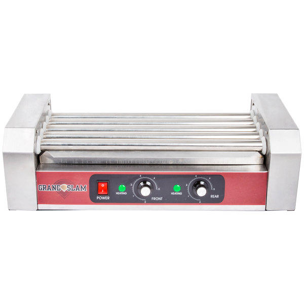 Grand Slam HDRG12 12 Hot Dog Roller Grill with 5 Rollers - 110V, 750W