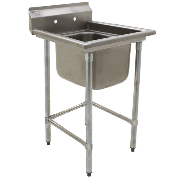 """Eagle Group S16-20-1 One 20"""" x 20"""" Bowl Stainless Steel Fabricated Compartment Sink Main Image 1"""