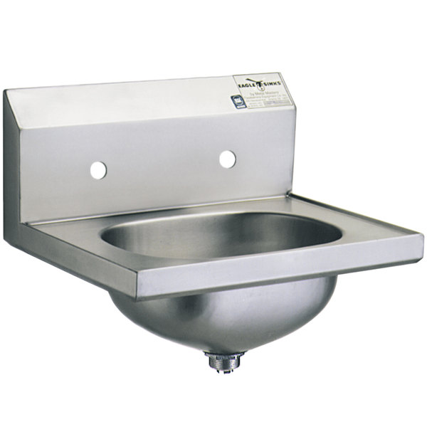 """Eagle Group HSA-10-8 Hand Sink with 8"""" Center Holes and Basket Drain"""