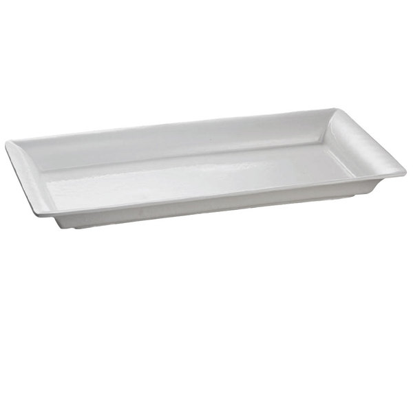 Tablecraft CW2110N Natural 21 inch x 12 inch Cast Aluminum Large Rectangle Platter