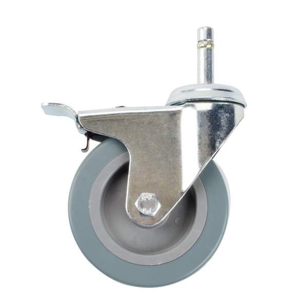 """Choice 4"""" Swivel Caster for Bussing and Utility Carts - With Brake Main Image 1"""