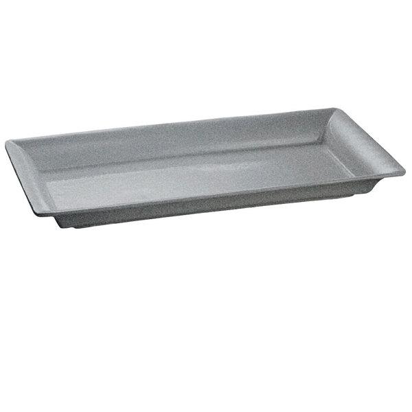 Tablecraft CW2110GR Granite 21 inch x 12 inch Cast Aluminum Large Rectangle Platter