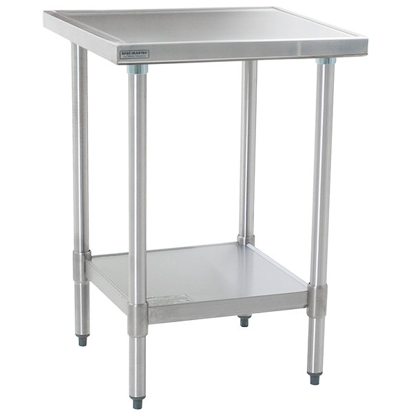 """Eagle Group T3036EM 30"""" x 36"""" Stainless Steel Work Table with Galvanized Undershelf"""