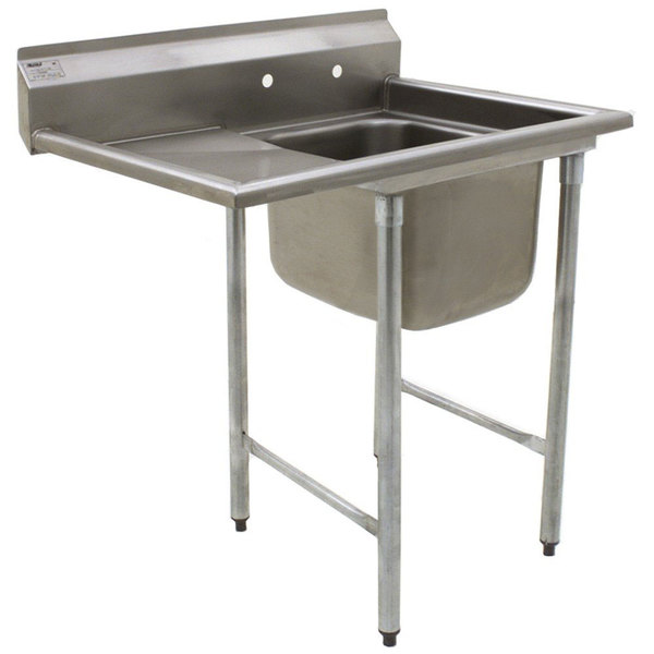"""Eagle Group 314-16-1-18 One Compartment Stainless Steel Commercial Sink with One Drainboard - 38 7/8"""" Main Image 1"""