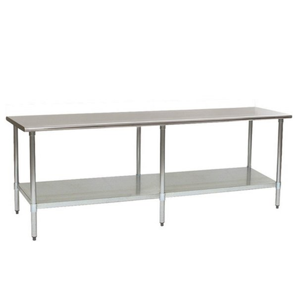 """Eagle Group T4872SE 48"""" x 72"""" Stainless Steel Work Table with Undershelf Main Image 1"""