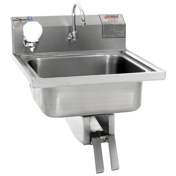 Eagle Group W1916 Stainless Steel Wall Mount Hand Sink With Knee
