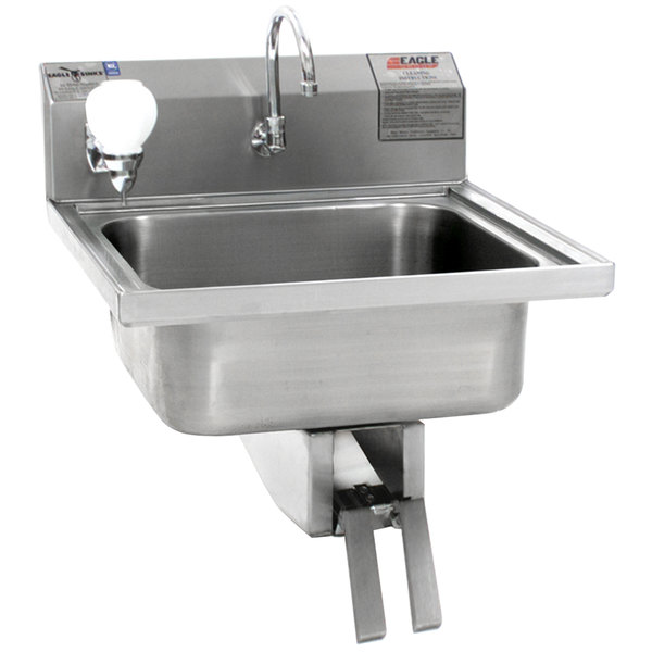 Genial ... Stainless Steel Wall Mount Hand Sink With Knee Pedal Faucet. Main  Picture
