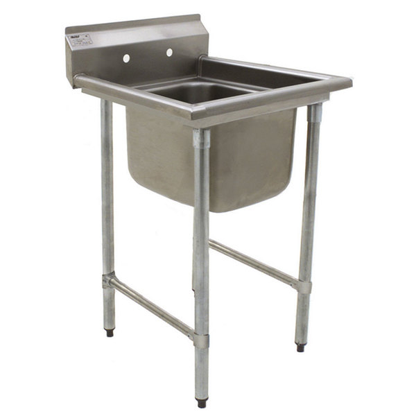 """Eagle Group 412-24-1 31 3/4"""" x 31 1/2"""" One Bowl Stainless Steel Commercial Compartment Sink"""