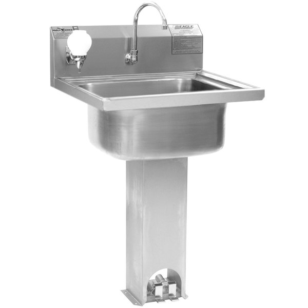 Eagle Group P1916 Stainless Steel Pedestal Hand Sink with ...