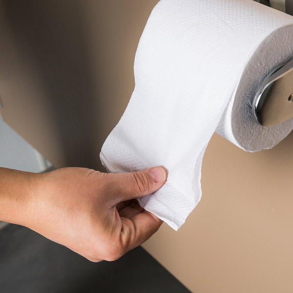 Amazing Toilet Paper Roll Part - 10: Lavex Janitorial Individually-Wrapped 2-Ply Standard 500 Sheet Toilet Paper  Roll - 96/Case