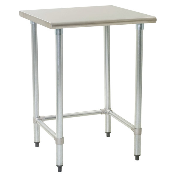 """Eagle Group T3036STB 30"""" x 36"""" Open Base Stainless Steel Commercial Work Table"""