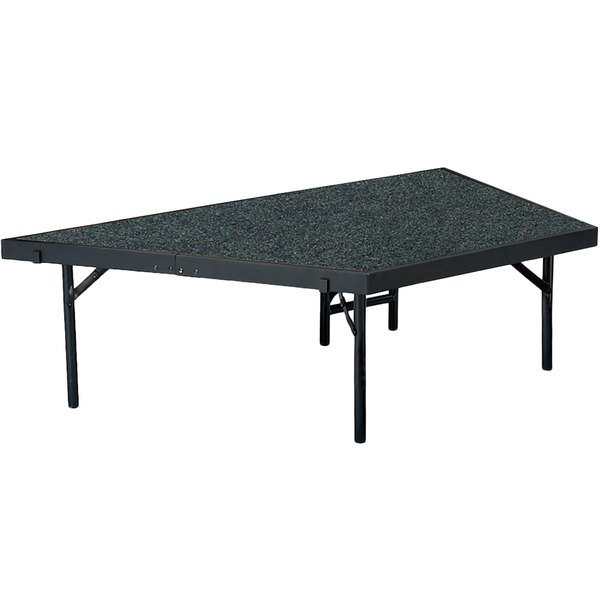 """National Public Seating SP3616C Portable Stage Pie Unit with Gray Carpet - 36"""" x 16"""" Main Image 1"""