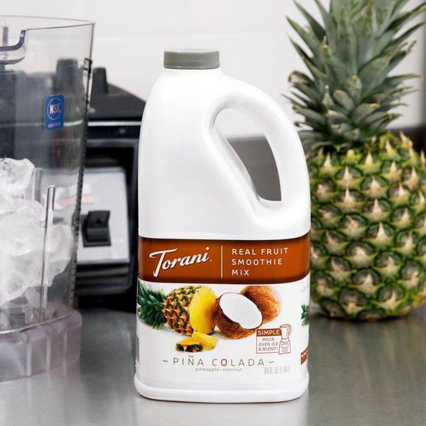 Torani 64 oz. Pina Colada Fruit Smoothie Mix Main Image 2